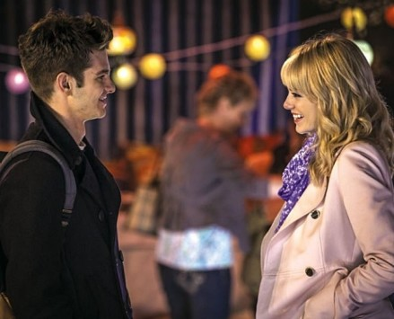 Andrew Garfield stars as Peter Parker/Spider-Man and Emma Stone stars as Gwen Stacy in Columbia Pictures' The Amazing Spider-Man 2 (2014)