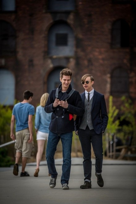 Andrew Garfield stars as Peter Parker/Spider-Man and Dane DeHaan stars as Harry Osborn/Green Goblin in Columbia Pictures' The Amazing Spider-Man 2 (2014)