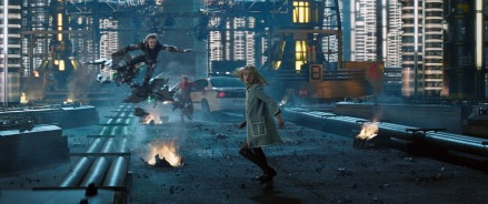 Dane DeHaan stars as Harry Osborn/Green Goblin and Emma Stone stars as Gwen Stacy in Columbia Pictures' The Amazing Spider-Man 2 (2014)